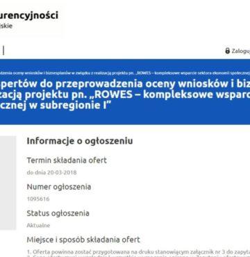 Nabór ekspertów Komisji Oceny Projektów