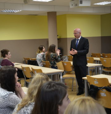 Spotkanie informacyjne ze studentami Wydziału Ekonomii Uniwersytetu Rzeszowskiego