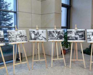Zdjęcia na sztalugach drewnianych