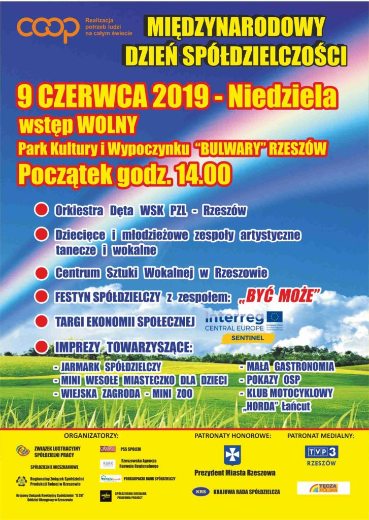 Plakat informujący o Międzynarodowym Dniu Spółdzielczości
