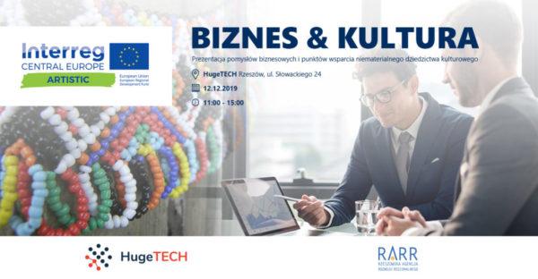 Plakat informujący o spotkaniu Huge Tech
