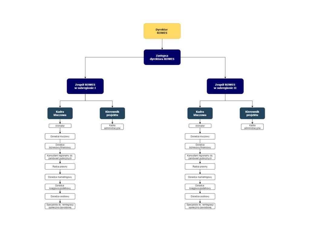 Schemat organizacyjny ROWES